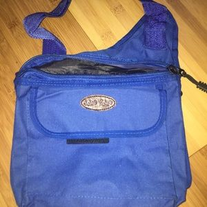 Blue European cross body bag